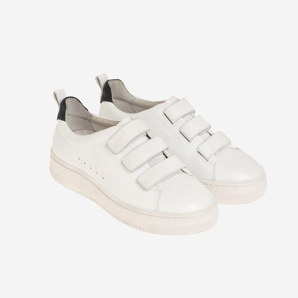 Sandro Shoes - Sandro Paris White Leather Velcro Trainer Sneaker